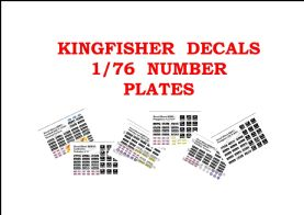 1/76 Number Plate Decals
